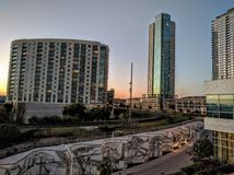 Sunset on downtown Austin Royalty Free Stock Photo