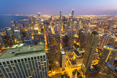 Sunset on Downtown Chicago Stock Photography