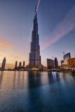Sunset in downtown Dubai, United Arab Emirates Stock Photo