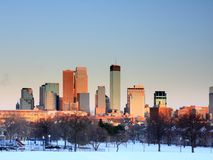 Sunset in downtown Minneapolis Stock Photos