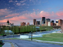 Sunset in downtown Minneapolis Royalty Free Stock Photo
