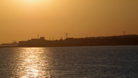 Sunset.Dramatic evening sky on the sea. stock footage