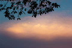 Sunset with a dramatic sky Stock Images