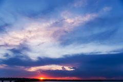 Sunset in dramatic sky Royalty Free Stock Photo
