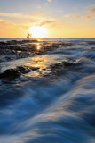 Sunset with dramatic waves Stock Image