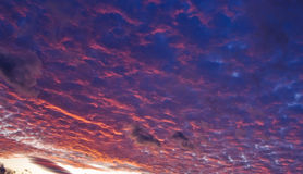 Sunset dream. High and dramatic sky at sunset Royalty Free Stock Image