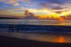 Sunset at Dreamland, Bali Stock Photography