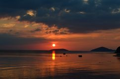 Sunset dreams. The seaside Stock Images