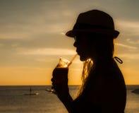 Sunset drinks Stock Photo