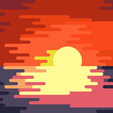 Sunset dripping paint. Royalty Free Stock Photos