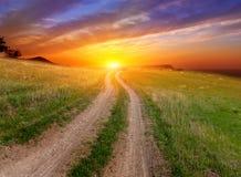sunset drogowy Fotografia Stock