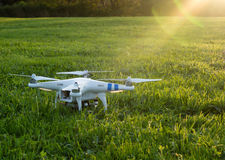 Sunset drone Royalty Free Stock Images