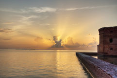Sunset in the Dry Tortugas Royalty Free Stock Images