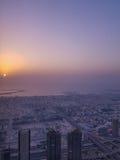 Sunset on Dubai Stock Photo