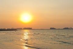 Sunset in Dubai Stock Photos