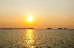 Sunset in Dubai Royalty Free Stock Image