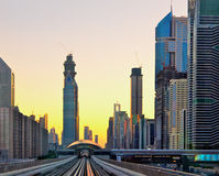 Sunset at Dubai, UAE Stock Images