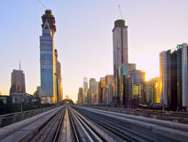 Sunset at Dubai, UAE Royalty Free Stock Images