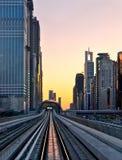 Sunset at Dubai, UAE Stock Photography