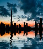 Sunset in Dubai Stock Photos