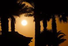 Sunset in Dubai Stock Photo