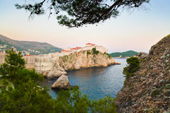 Sunset at Dubrovnik, Croatia Royalty Free Stock Image