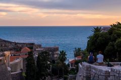 Sunset in Dubrovnik, Croatia Royalty Free Stock Photo