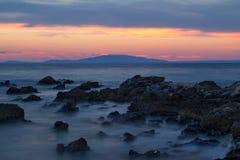 Sunset at Dudici, island Pag, Croatia Stock Photos