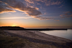 Sunset Duindorp. Sunset at the beach of Duindorp Stock Image