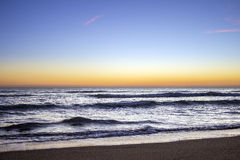 Sunset at Dunas Douradas beach seascape, famous destination Royalty Free Stock Photo