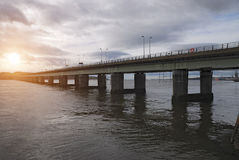 Sunset Dundee Bridge, Scotland Royalty Free Stock Image