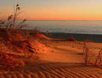 Sunset on Dunes Royalty Free Stock Photography