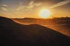 Sunset on the dunes Stock Photography