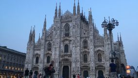 Sunset at Duomo Milan Cathedral Timelapse stock footage