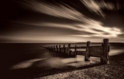 Sunset, Dusk, Black And White Stock Photo
