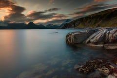 Sunset, Dusk, Last Light, Lake Stock Photography