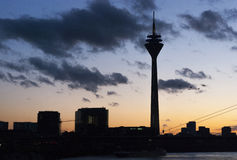 Sunset in Dusseldorf Stock Photos