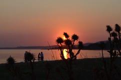 The Sunset . Duzler Bandirma Turkey Stock Photos
