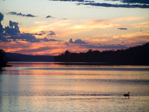 Sunset at Eaglehawk Neck, Tasman Peninsula royalty free stock image