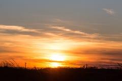 Sunset on east coast bay Stock Photo