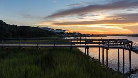 Sunset on an East Coast Inlet stock images