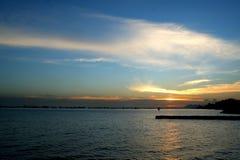 Sunset at East Coast Stock Photo