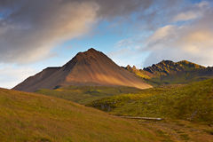 Sunset in the east of Iceland Royalty Free Stock Image