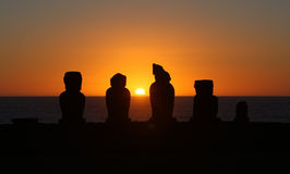 Sunset on Easter Island Stock Photo