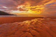 Sunset ebb Royalty Free Stock Photos