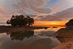 Sunset ebb Royalty Free Stock Photo