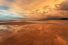 Sunset ebb Royalty Free Stock Images