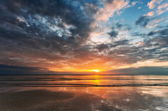 Sunset ebb Stock Photo
