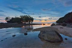 Sunset ebb Royalty Free Stock Photography