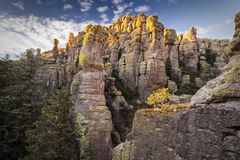 Sunset in Echo Canyon at Chiricahua National Monument Stock Photography